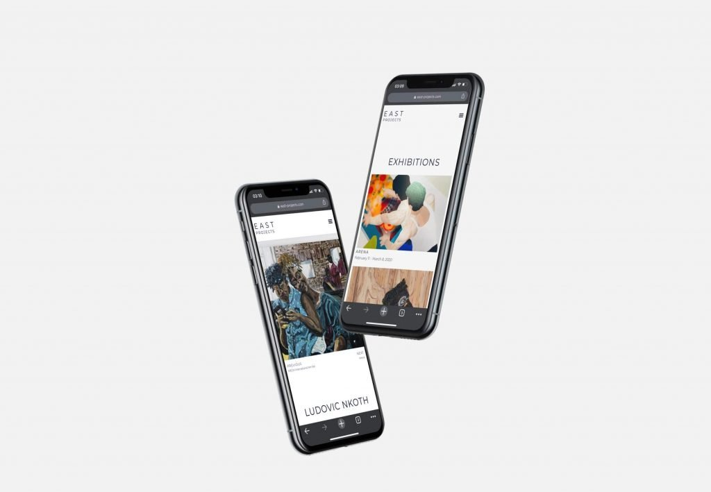 East Projects Gallery Mobile Mockups