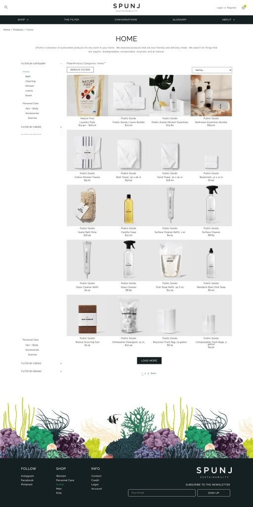 SPUNJ Sustainability Brands Product Archive